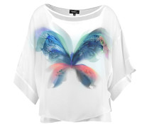 PLACED BUTTERFLY - Bluse - ivory