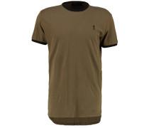 STOWE TShirt print modern khaki/black