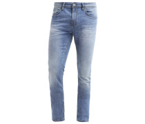 CULVER Jeans Slim Fit mid stone wash denim