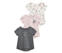 3 Pack TShirt print grey