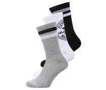3 PACK Socken white/light grey
