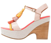 ALBERI - High Heel Sandaletten - pink/yellow
