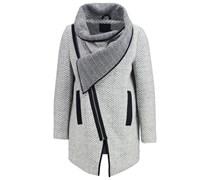 ATALIE Wollmantel / klassischer Mantel light grey