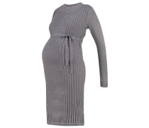 MLJOYAN Strickkleid medium grey melange