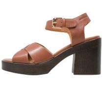 MARVA High Heel Sandaletten cognac