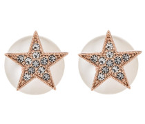 STAR PEARL DOUBLE Ohrringe rose/clear