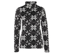 ALPINE CHIC Fleecepullover black stained glass