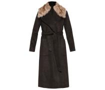 Wollmantel / klassischer Mantel dark khaki