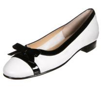 STEFY Klassische Ballerina bianco/vernice nero