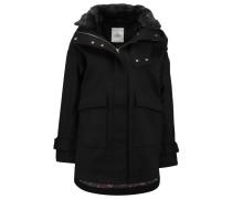 CARMEN Wollmantel / klassischer Mantel noir