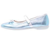 Riemchenballerina metallic blue