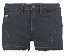 GStar 5620 BF RIPPED EVA SHAW SHORT Jeans Shorts black edington stretch denim