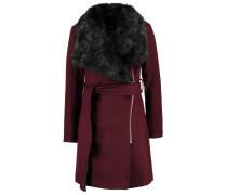 Wollmantel / klassischer Mantel dark burgundy