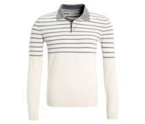 Poloshirt - mottled light grey/white