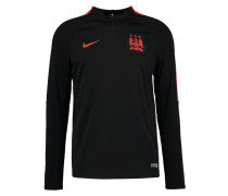 MANCHESTER CITY Langarmshirt black/team orange