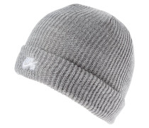 Mütze - dark grey heather/white