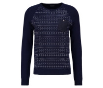 NOBEY Strickpullover navy