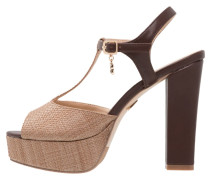 High Heel Sandaletten tan