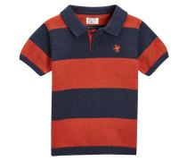 Poloshirt orange/navy