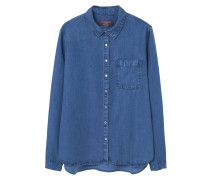 Hemdbluse - medium blue