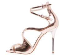 High Heel Sandaletten - rose gold
