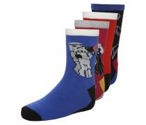 4 PACK Socken bordeaux