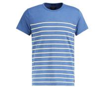BRETON MUSCLE FIT TShirt print blue/white