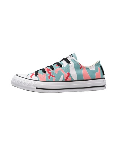 converse damen chuck taylor all star andy warhol sneaker low nile blue salmon rose white 10. Black Bedroom Furniture Sets. Home Design Ideas