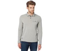 Poloshirt middle grey melange
