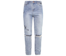 MOM Jeans Slim Fit navy