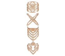 4 PACK - Ring - rose gold-coloured