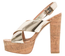 High Heel Sandaletten gold