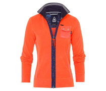 Fleecejacke orange