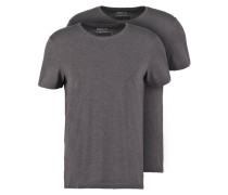 2 PACK TShirt basic dark grey melange