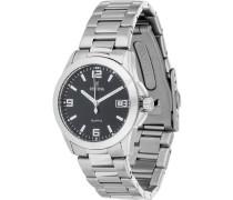 KLASSIK - Uhr - schwarz/silberfarben