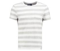 TShirt basic light grey melange/white