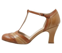 Pumps cognac/beige