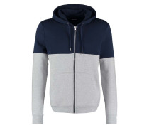 Sweatjacke mottled grey/dark blue