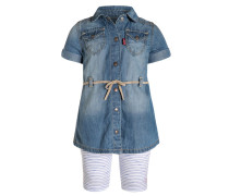 SET Freizeitkleid blue denim