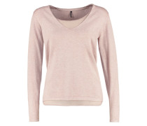 DOLLIE Strickpullover dusty rose melange