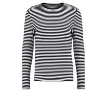 STRIPE SLIM FIT - Langarmshirt - black