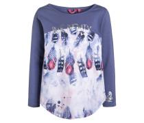 Langarmshirt bleached denim/blue