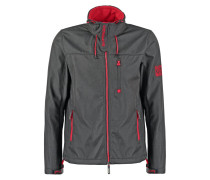 Übergangsjacke matte black marl/rebel red