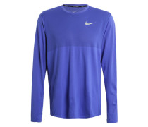 Langarmshirt paramount blue/reflective silver