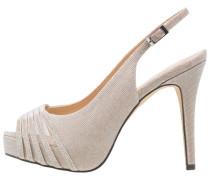 POZUELO - High Heel Peeptoe - stone