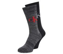2 PACK Socken black charcoal melange/black