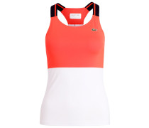 Top - fluo energy/white/navy blue
