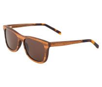 JUSTUS - Sonnenbrille - zebrano/solid brown