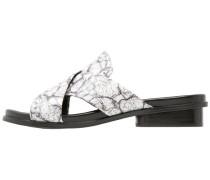 BASIA Pantolette flach black/white