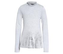 Langarmshirt grey/silver